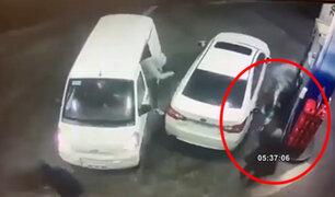 Chile: hombre ahuyenta a ladrones lanzando combustible
