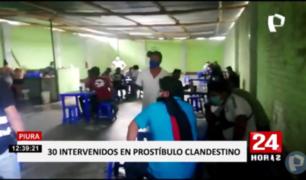 Piura: más de 30 personas intervenidas en prostíbulo clandestino