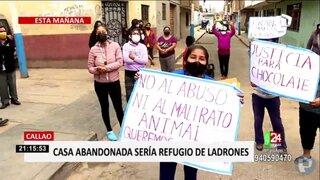 Callao: vecinos atemorizados por casa abandonada que sería refugio de ladrones