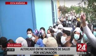 Problemas con vacunación de internos de medicina y con adultos mayores en Jesús María y SMP