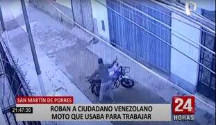 SMP: roban motocicleta a ciudadano venezolano