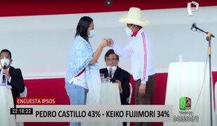 Segunda vuelta: Keiko Fujimori se acerca a Pedro Castillo, según encuesta de Ipsos