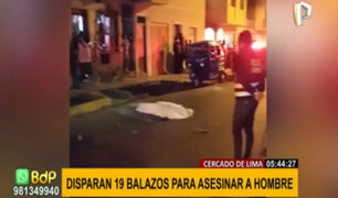 Cercado de Lima: hombre es asesinado a balazos en la puerta de su domicilio