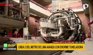 Línea 2 del Metro de Lima: Tuneladora excavará casi 13 metros por día a partir de julio