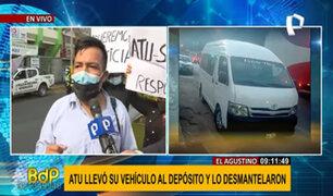 El Agustino: se llevan vehículo a depósito municipal y lo desmantelan