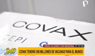 Covax firma acuerdo con Moderna por 500 millones de vacunas para el mundo