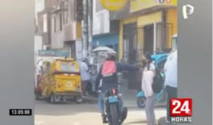 Independencia: delincuente en moto arrebata celular a mujer
