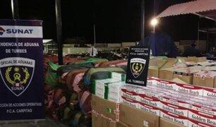 Tumbes: incautan ropa y cigarrillos de contrabando que eran transportados en encomiendas