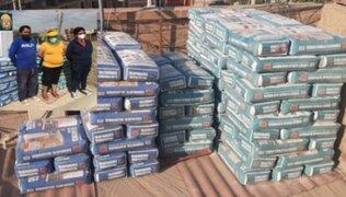 Desarticulan banda que vendía cemento adulterado en Ica