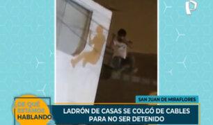 SJM: ladrón que quedó colgado entre cables termina con varias heridas en el cuerpo