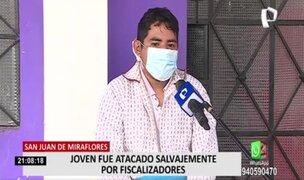 Joven denuncia ataque de fiscalizadores de SJM por defender a anciana