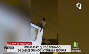 SJM: mujer evitó poner denuncia contra ladrón que intentó escapar por su casa