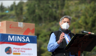 Huaraz: presidente Francisco Sagasti entregó vacunas Pfizer para adultos mayores