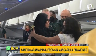 EEUU: sancionarán a pasajeros que se nieguen a ponerse mascarilla durante el vuelo