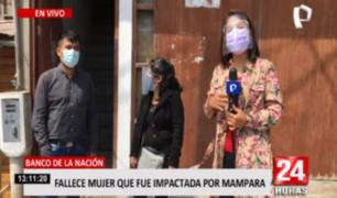 Familia de mujer fallecida en Banco de la Nación exige justicia
