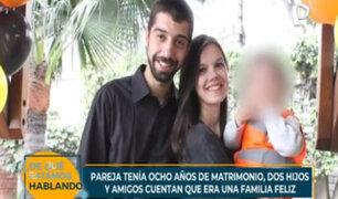 Feminicidio y suicidio en San Borja: pareja se veía feliz junto a sus hijos, según amigos