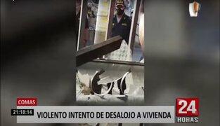 Disputa familiar por casa desencadenó violento desalojo en Comas