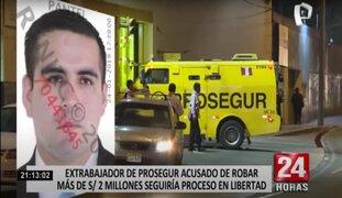 Extrabajador acusado de robar más de 2 millones de soles seguiría proceso en libertad