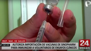 Digemid aprueba importación de vacunas de Sinopharm para voluntarios de ensayos clínicos