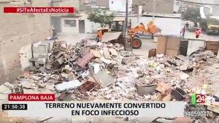 Vecinos denuncian hallan desmonte y basura al salir de sus casas en SJM