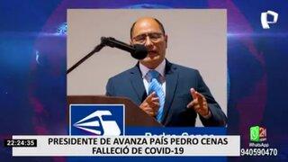 Falleció Pedro Cenas, el presidente fundador del partido Avanza País