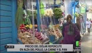 Alza del dólar repercute en precio de pollo, carne, arroz y más alimentos de la canasta básica familiar