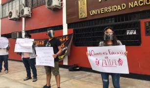 UNFV: estudiantes realizaron plantón ante la falta de docentes en más de 30 cursos