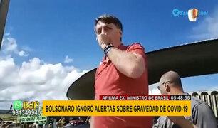 Bolsonaro ignoró alertas sobre la gravedad del COVID-19, aseguró exministro de Brasil