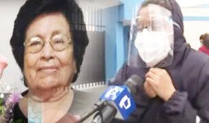 Angustiada mujer suplica por una cama UCI para su madre en la Villa Mongrut