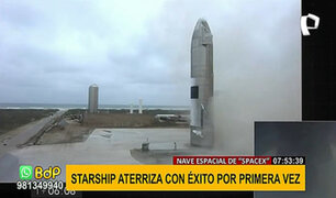 """Proyecto """"SpaceX"""" tiene éxito y logran aterrizar prototipo espacial"""