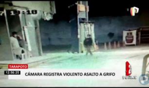 Tarapoto: cámaras captaron asalto a grifo