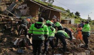 Desprendimiento de cerro destruyó vivienda y mató a anciana en Huancavelica
