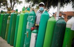 Se registra ligero descenso en demanda de oxígeno medicinal en Lurín y VES