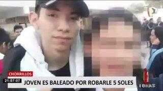 Chorrillos: delincuentes balean a joven para robarle cinco soles