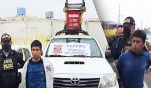 """Chorrillos: policía recupera camioneta robada a trabajadores de """"Luz del Sur"""""""