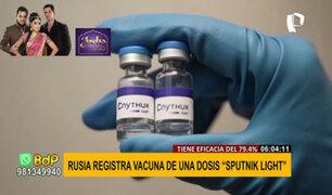 Sputnik Light: Rusia prueba uso de vacuna de una sola dosis