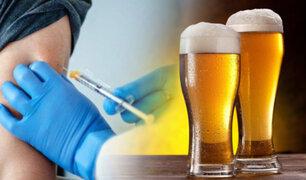 Regalan cerveza por vacunarse contra la COVID-19