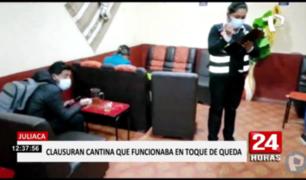 Juliaca: cierran cantina clandestina que atendía en toque de queda