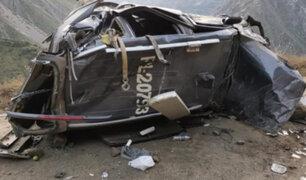 Accidente en Yauyos: comisario PNP muere tras despiste de patrullero