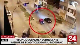 El Agustino: vecinos atraparon y golpearon a delincuente tras robarle a anciana