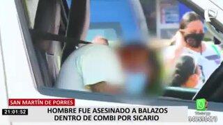 SMP: hombre es asesinado a balazos al  interior de una combi repleta de pasajeros