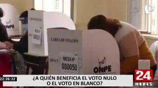 Elecciones 2021: ¿a quién beneficia el voto en blanco o viciado?