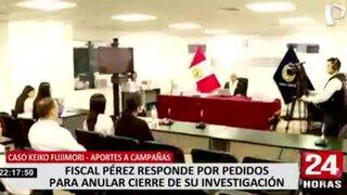 Poder Judicial evalúa pedido para anular cierre de investigación por aportes a Fuerza Popular