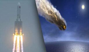Cohete chino fuera de control caerá en la Tierra el día de hoy