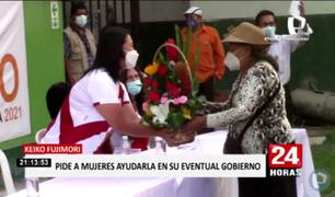 Keiko Fujimori se reunión con madres de los programas sociales en Comas