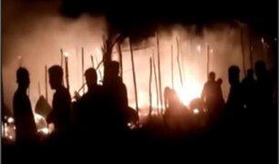 La Libertad: tráiler se incendió en plena Panamericana Norte
