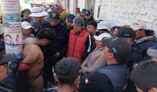 Ciudadanos de Huamachuco atraparon a delincuente tras robar balón de gas
