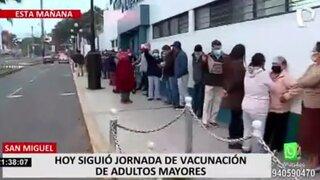 Chorrillos: adultos mayores tuvieron que esperar varias horas para vacunarse en la Villa Militar