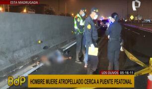 Los Olivos: hombre muere atropellado muy cerca de puente peatonal