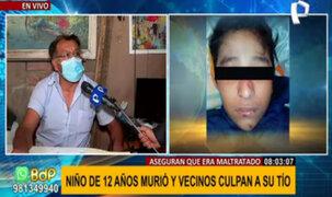 Niño hallado muerto en Huaycán: tío niega estar implicado pero vecinos lo responsabilizan